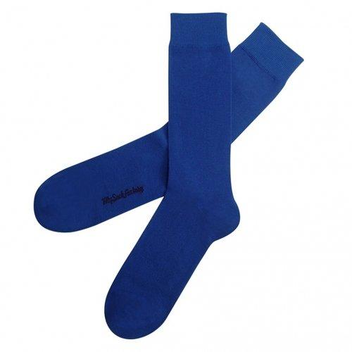 chaussettes-unies-bleu-electrique-clubbing-produit