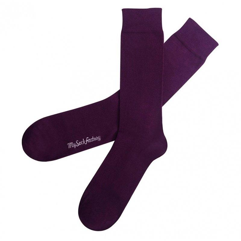 gemütlich frisch Designermode Fabrik Einfarbig violette Socken: buntes Design | My Sock Factory
