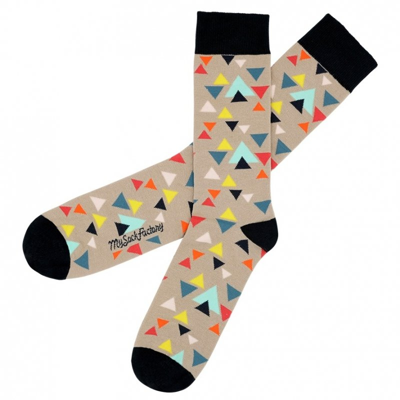 beigefarbene hipstersocken fantasie design my sock factory. Black Bedroom Furniture Sets. Home Design Ideas