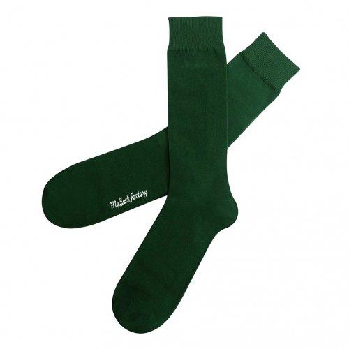 chaussettes-vert-bouteille-unies-st-patrick-homme
