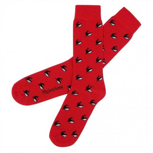 chaussettes-rouges-motifs-baleines-cross-fit
