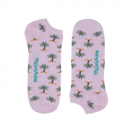 rosa-low-Socken-Palmenmotiven-damen-prasentation