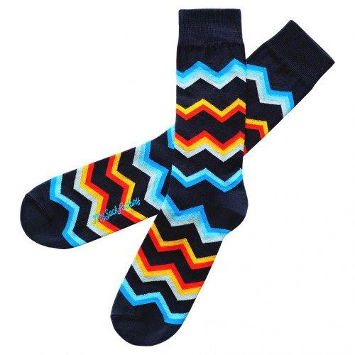 hübsche-Socken-blau-gestreift-farbig