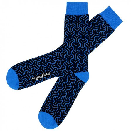 black-patterned-socks-with-electric-blue-patterns-presentation-flat