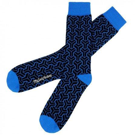 chaussettes-noires-motifs-bleu-electric-presentation-plat