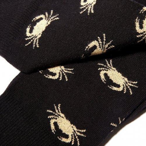 socquettess-originales-motifs-crabe-or-plat